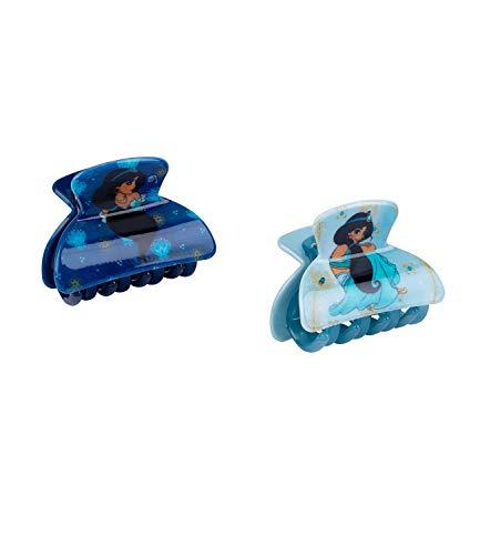 SIX Kids Haarspangen von Disney, Haarklammern in türkis und blau mit Glitzer, 1001 Nacht, Jasmin, Prinzessin (304-633)