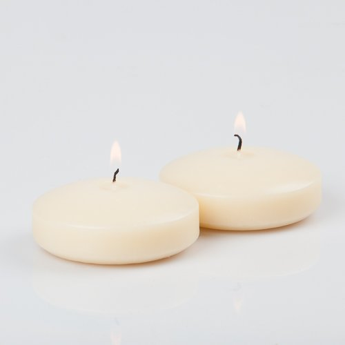 Quick candles - set di 12 candele galleggianti, diametro: ca. 8 cm avorio