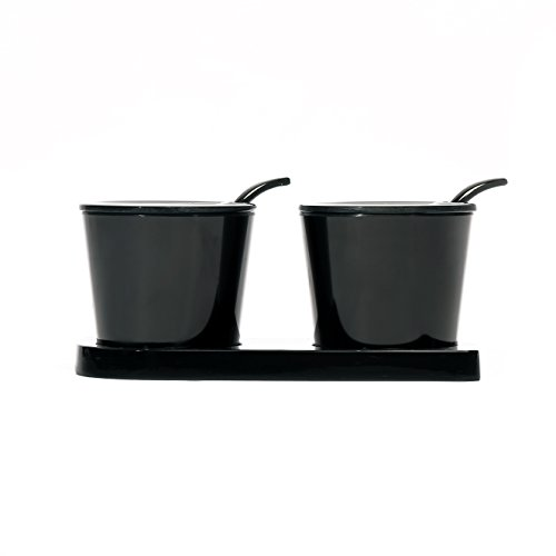 @home by Nilkamal Black Melamine Condiment Set  available at amazon for Rs.248