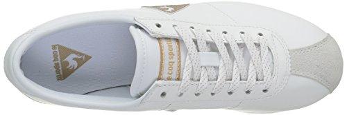 Le Coq Sportif Wendon W Sparkly, Baskets Basses Femme Blanc (White/Gold)