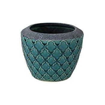 Moroccan Style Ceramic Plant Pot Cover X 1 16cm Diameter