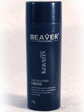Beaver KERATIN Hair Building Fibres Hair Loss Concealer 28g Dark Brown (Beaver Fibres) by Beaver -