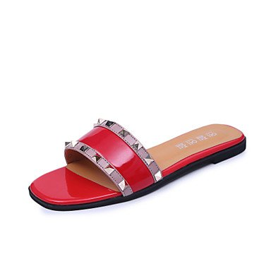 Donne'spantofole & flip-flops Estate Mary Jane Casual in similpelle tacco piatto innervamento a piedi US8 / EU39 / UK6 / CN39