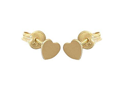Hobra-Gold KINDER OHRSTECKER GOLD 585 HERZEN SEHR KLEINE HERZ OHRSTECKER GOLDHERZ OHRRINGE