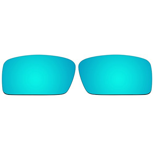 Acompatible Ersatzgläser für Oakley Gascan S Sonnenbrille, Ice Blue Mirror - Polarized