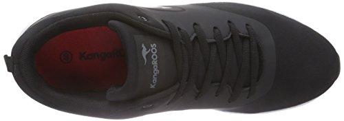 KangaROOS Kangacore 2106, Baskets Basses mixte enfant Noir - Noir (500)