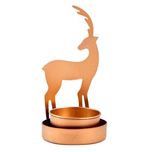 Hashcart décoratifs Cerf Ombre Photophore pour décoration intérieure Cadeau de Noël//