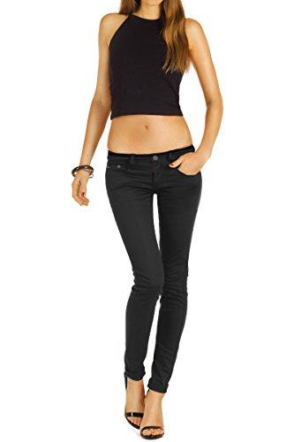 Bestyledberlin Pantaloni Jeans donna, Jeans skinny j71e Nero