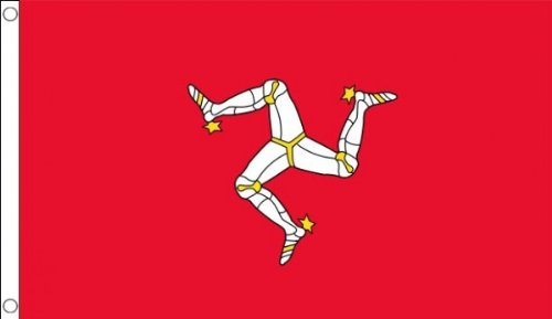 Flagge Material (5ft x 3ft (150x 90cm) Isle of Man Manx 100% Polyester Material Flagge Banner Ideal für Pub Club Schule Festival Business Party Dekoration)
