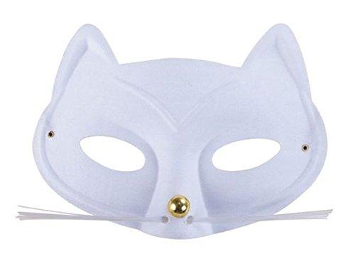 P 'Tit Clown 17013Löwe Katzen mit Schnurrbart Stoff–Weiß