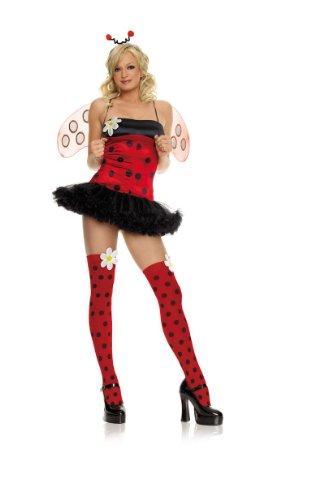 Bug Daisy Kostüm - Daisy Bug-Kostüm, 4-teilig, mit viel Zubehör, Schwarz/Rot, Größe S (UK 6)