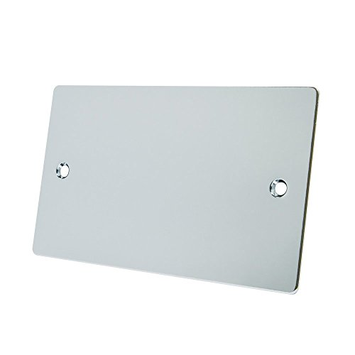 Alliance Electrical FPC2GBP - Placa ciega eléctrica Doble (Cromo Pulido, 2 interruptores)