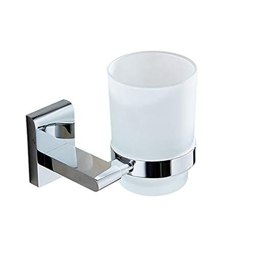 Glas-antik-zahnbürste-halter (LUDSUY Kupfer-Chrom Einzel Cup Bad Zahnbürste Cup Halter Glas Mouth Cup Einzel Cup Holder)