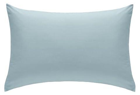 Percale Housewife Pillowcase Pair 180 Thread Count, 50 x 75 cm - Duck Egg Blue