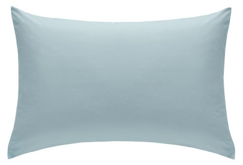 Percale Housewife Pillowcase Pair 180 Thread Count, 50 x 75 cm - Duck Egg Blue