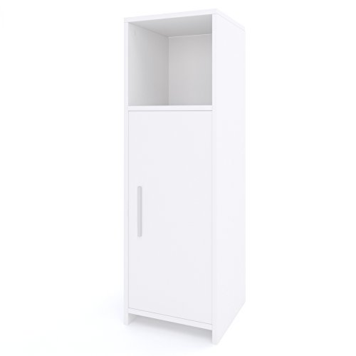 #VICCO Badezimmerschrank KIKO Unterschrank Waschbeckenunterschrank Hochschrank Badmöbel Schrank Midi-Schrank Badregal (Weiß, Midi-Schrank)#