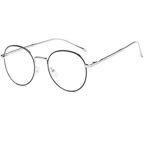 YUNCAT Metallrahmen Runde Brille Vintage Brille Transparente Brille mit Fensterglas Retro-60er für Karneval