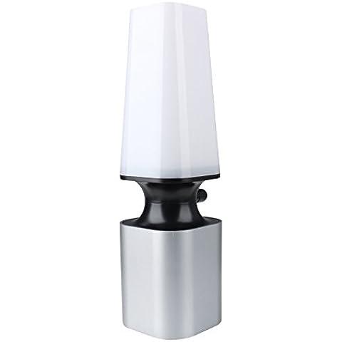 Lámpara del Noche,Aquiver,Lluminación con Toca Control 10 Nivel de Brillo,Lampara del 2W, Lampara de mesa y mesilla de noche,Color Blanco