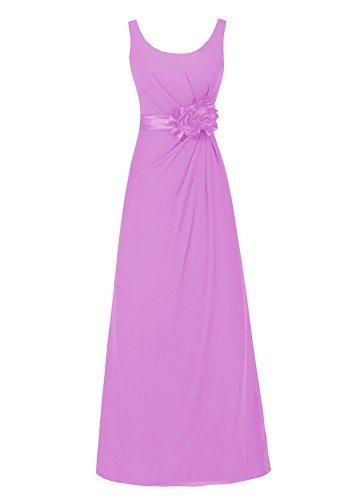 Dresstells, robe de soirée sans manches, robe longue de cérémonie, robe de demoiselle d'honneur Lilas