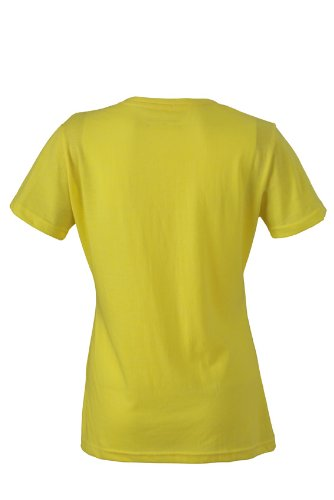 JAMES & NICHOLSON T-shirt Ladies Heather - T-shirt de Maternité - Femme Jaune (Yellow/Melange)