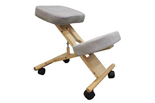 Sedia inginocchiatoio PRO11, ergonomica, sedia correttiva per la postura del ginocchio. Beige