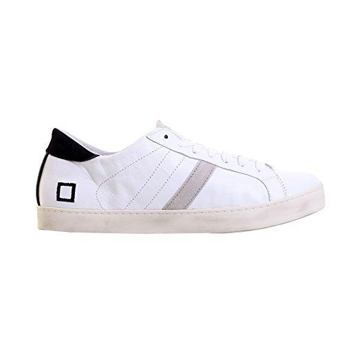 Sneaker D.A.T.E. Hill Low in pelle e camoscio bianco Bianco