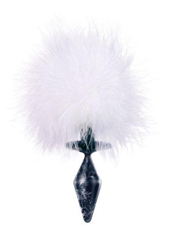 Glassvibrations Dark Series Glasplug Bunny Tail (Tail Bunny Weiß)