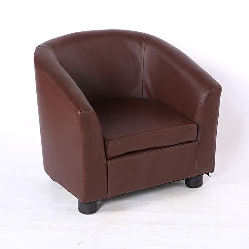 Kinder Sofa,Kinder Sessel,Leder Mini Kleine Sofa Weich Stetigen Kindermöbel Für Wohnzimmer Kindergarten-E 49x45x44cm(19x18x17inch)