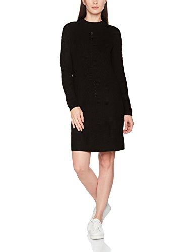 ESPRIT Damen Kleid 107EE1E001 Schwarz (Black 001), Large