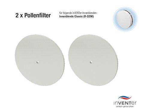 Preisvergleich Produktbild 2 x inVENTer-Pollenfilter der Filterklasse G2 zum Einsetzen in Innenblende Classic (R-D290) Twin | Pollenfilter aus High-Air-Flow-Faser | Filter zur Verbesserung der Luft- und Lebensqualität | Einsatz während der Pollenflugzeit