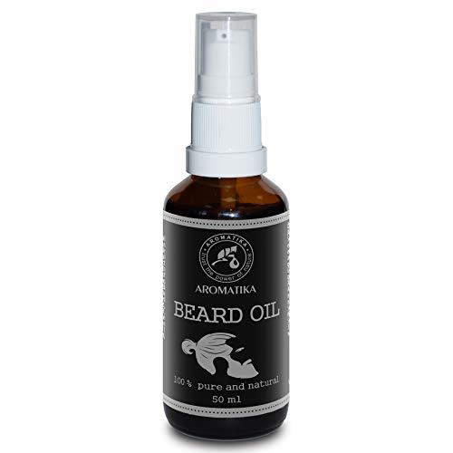 Bartöl Männer 50ml - 100% Natürlich - Bart & Schnurrbart Öl mit Mandelöl - Arganöl - Jojobaöl - Orangenöl - Minzöl - große Vorteile für Bart Pflege - Glasflasche - Beard Oil