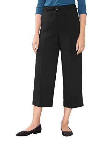 ESPRIT Collection Damen Hose 096EO1B010, Schwarz (Black 001), W32 (Herstellergröße: 42)