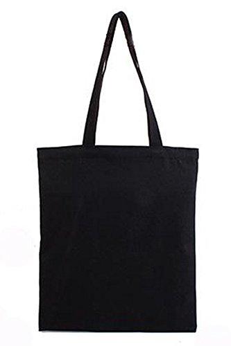 Vococal® Unisex Baumwoll Canvas Buchstaben Muster Schultertaschen Shopping Taschen - Damen Bote Umhängetaschen Shopper Taschen #2