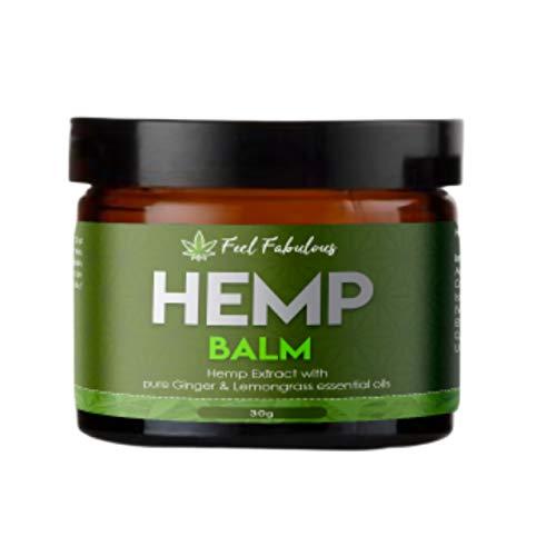 Gelenk Balsam (GMO-freier Hanfextrakt-Balsam mit reinem Ingwer und Zitronengras Ätherische Öle aus Großbritannien für Muskeln, Gelenke, Knie, Schultern, Rückenschmerzen)