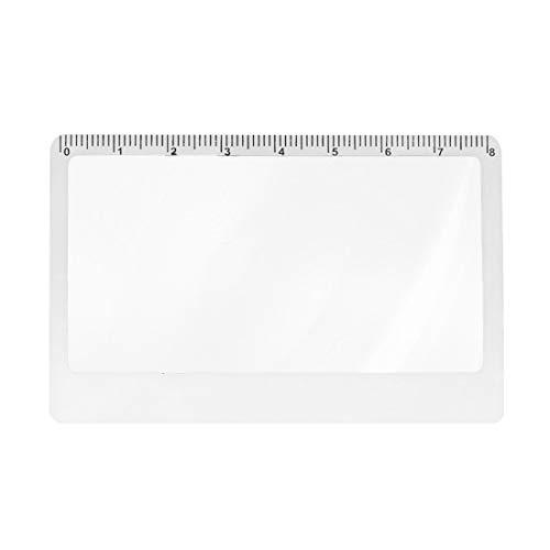 Convex Len - 3 X Magnifier Magnification Magnifying Fresnel Lens 8.5x5.5x0.45cm Pocket Credit Card Size - Focal Telescope Fresnel Print Sunglass Lenses Degree Epson Shutter Eyeglass Waterproof