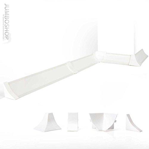250cm Küchenabschlussleiste Küchenleiste Wandabschlussleiste Abschlussleiste Küchen Arbeitsplatten 23 x 23mm LB23-610 ALUMINIUM
