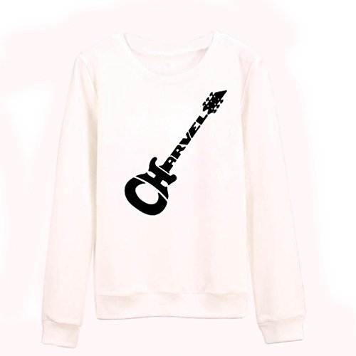 NiSeng Donna Maniche Lunghe Felpa Mode Pattern Stampa Girocollo Felpa  Camicia Pullover Bianco&Nero