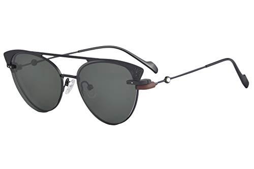 SHINU Metallrahmen Aufsteckbare Polarisierte Sonnenbrille Blaulichtfilter Myopiebrille-DC3049(C1,600)
