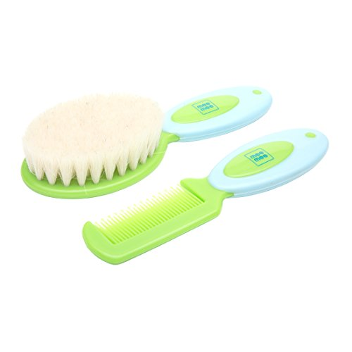 Mee Mee Soft Grip Brush & Comb Set (Blue)  available at amazon for Rs.295