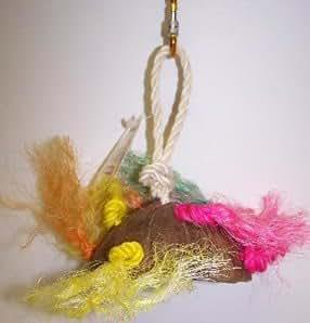 Haustiere Wahl 463-00202 Coco Untertasse Mit Sisal Seil Vogel Spielzeug