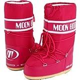 Stivali Neve Doposci Moon Boot Original Nylon Fucsia 31/34EU