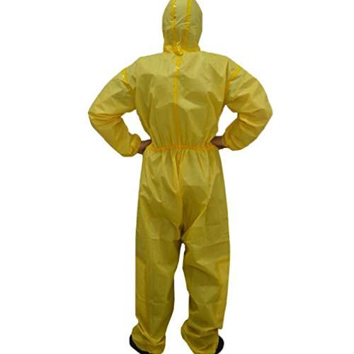 GZYF Indumenti protettivi Abbigliamento Protettivo Chimico con Cappuccio, Spray Anti-Acido e antiparassitario Chimico, Tute protettive Traspiranti