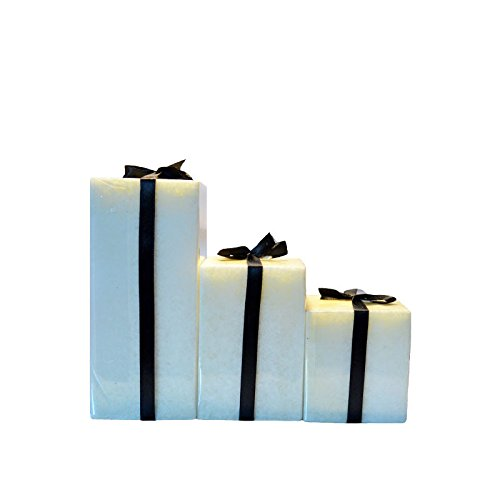 Jasmine White Bar Candles (Set of 3) | Amazing Jasmine Fragrance | Pack Consists of Small, Medium and Large Candles | 100% Pure Wax | By YesNo.in