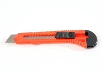 25 Stück SBS Cuttermesser, Teppichmesser für 18mm Abbrechklingen