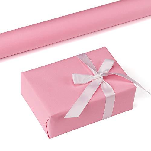 RUSPEPA Rosa Kraftpapier - 47,8 Quadratmeter Schweres Papier Für Hochzeit, Geburtstag, Dusche, Glückwünsche Und Weihnachtsgeschenke - 44,5Cm X 10M Pro Rolle (Kunststoff-tischdecke Rolle Pink)