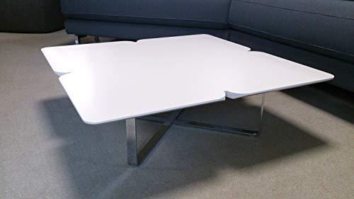Möbel Akut Couchtisch Freistil 195 von ROLF Benz Design Wohnzimmertisch Holz hellgrau Kleeblatt 79x79 cm