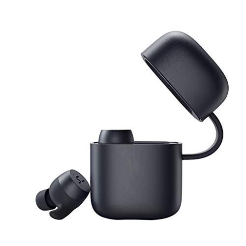 Mumuj HAVIT G1 Drahtlose Kopfhörer, Wireless Bluetooth In-Ear-Ohrhörer, IPX6 wasserdichte Bluetooth V5.0 Kopfhörer mit Mikrofon, 720 mahLadekoffer, 3D-Bass-Stereo-Sound für Sport (Schwarz) G1 Stereo