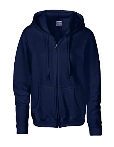 Heavy BlendTM Ladies´ Full Zip Hooded Sweatshirt in Navy Größe: M -