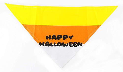 Dog Kostüm Candy - Midlee Candy Corn Halloween Dog Bandana by, Small