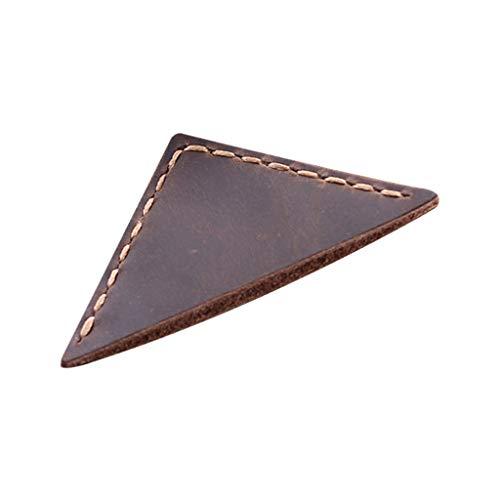 Keepart - Segnalibro Triangolare, Realizzato a Mano, in Pelle, Accessori per la Lettura, Idea Regalo per Gli Amanti dei Libri, per Insegnanti